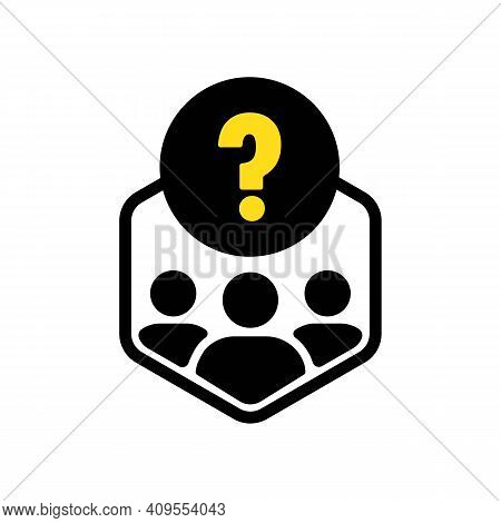 Making Decisions Icon. Indecision. A Lot Of Questions. Way Direction Icon. Research In Society Or Le