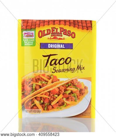 IRVINE, CA - January 05, 2014: Old El Paso Taco Seasoning. Old El Paso has be making popular Mexican cuisine products since 1938.