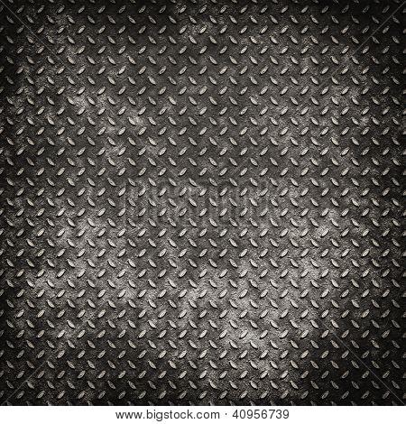 Grunge Metal Diamond Plate Background Or Texture