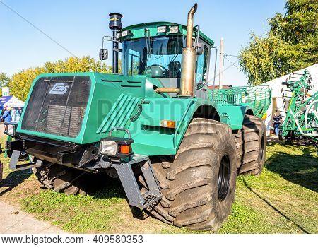 Samara, Russia - September 23, 2017: Modern Agricultural Tractor K-704-4r