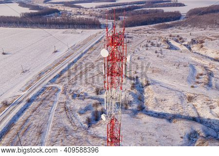 Telecommunication Tower Of 4g And 5g Cellular