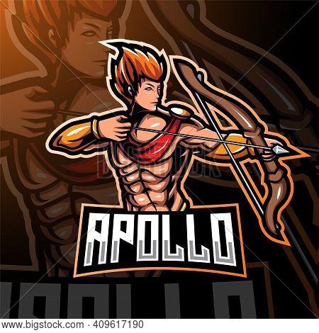 Apolo Esport Mascot Logo Design With Text
