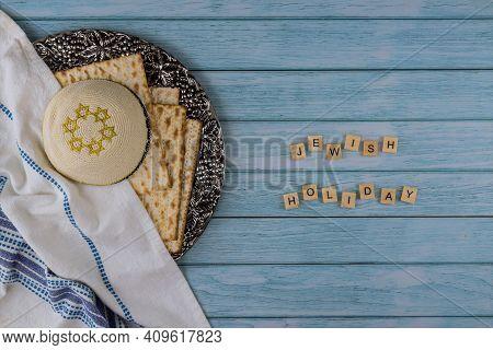 Judaism Religious Jewish Holiday Matza On Passover