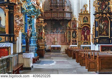 Torun, Poland - December 01, 2016: Side Chapel In The Gothic Catholic Church Of St. John The Baptist