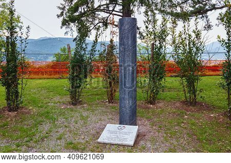 Bergamo, Italy - May 22, 2019: War Memorial Of The National Association Of Families Fallen And Missi