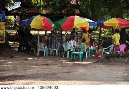Local Street Food And Restaurant Shop Burma Style For Burmese People And Foreign Travelers Eat Drink