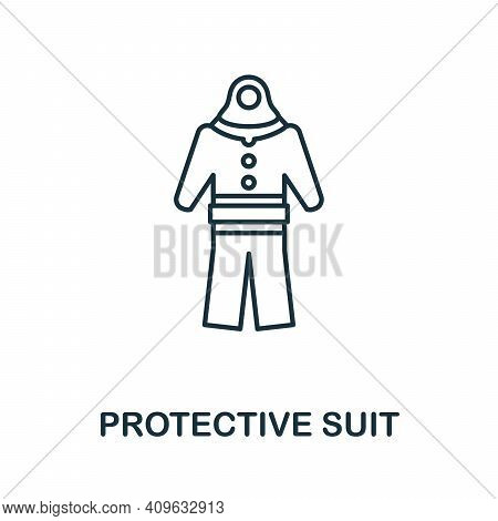 Protective Suit Icon. Simple Element From Personal Hygiene Collection. Creative Protective Suit Icon