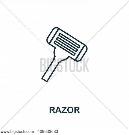 Razor Icon. Simple Element From Personal Hygiene Collection. Creative Razor Icon For Web Design, Tem