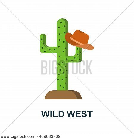 Wild West Flat Icon. Color Simple Element From Wild West Collection. Creative Wild West Icon For Web