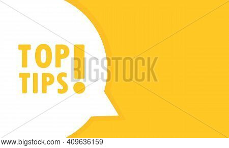 Top Tip Post Speech Bubble Banner. Can Be Used For Business, Marketing And Advertising. Top Tip Prom