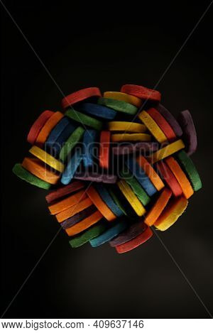 Wood Sucker Sticks Repurposed For Children's Colourful Building Sticks