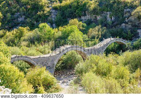 An Arched Stone Bridge, Near Kipi, Zagoria, Epirus, Greece