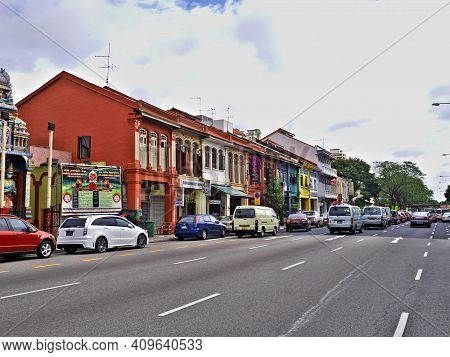 Singapore - 03 Mar 2012: The Street In Little India, Singapore