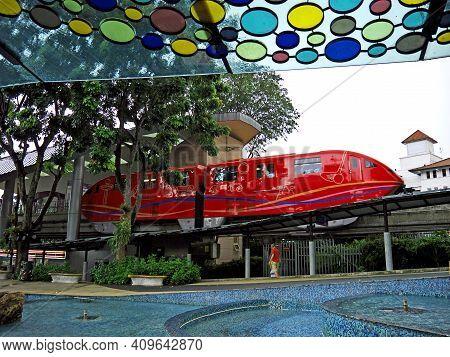 Singapore - 02 Mar 2012: The Monorail On Sentosa Island, Singapore