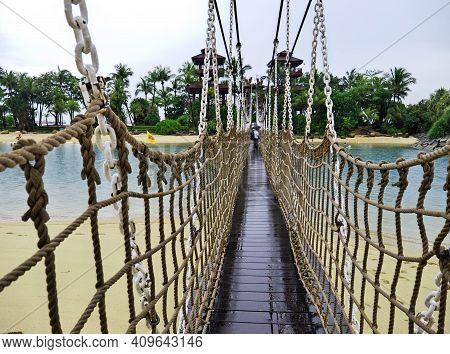 Singapore - 02 Mar 2012: The Bridge On Sentosa Island, Singapore