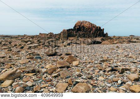 Rock Formation Against Sky In Sillon De Talbert Area