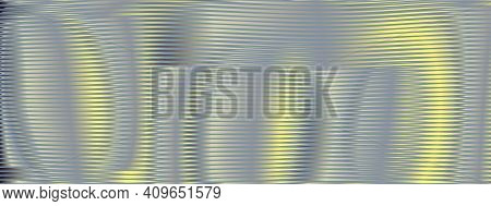 Abstract Lined Blend Texture Deformation With Curved And Metallic Effect Surface In Dark Gray Halfto
