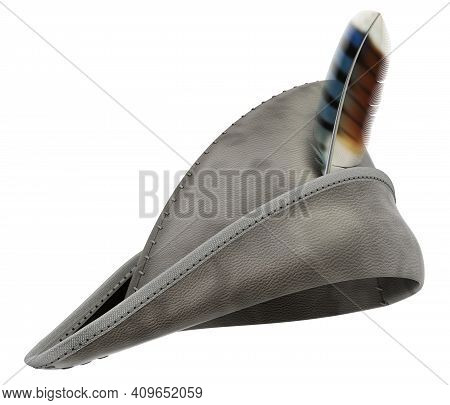 Robin Hood Leather Hat Isolated On White Background - 3d Illustration