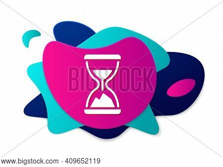 Color Old Hourglass With Flowing Sand Icon Isolated On White Background. Sand Clock Sign. Business A