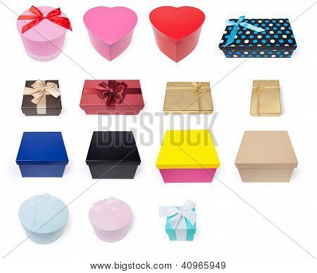 Assortment Of Fifteen Different Gift Boxes