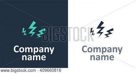 Logotype Zeus Icon Isolated On White Background. Greek God. God Of Lightning. Logo Design Template E