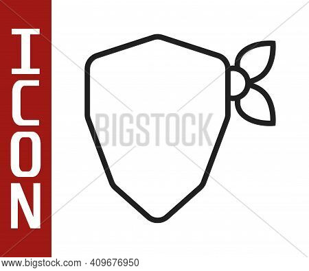 Black Line Vandal Icon Isolated On White Background. Vector