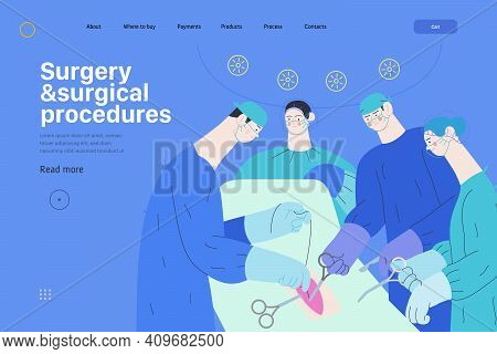 Medical Reports Application -medical Insurance Web Page Template -modern Flat Vector Concept Digital