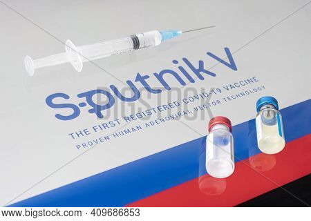Russia Coronavirus Vaccine Sputnik V. Covid-19 Vaccination. January 18, 2021, Barnaul, Russia.