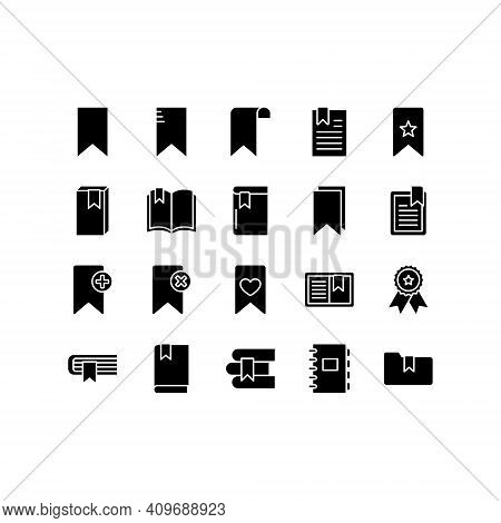 Bookmark Vector Icons Set. Set Includes Icons As Favorite Website Bookmark, Folder, Document, Page,