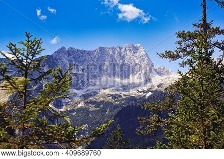 View Of Julian Alps In The Slovenian Countryside