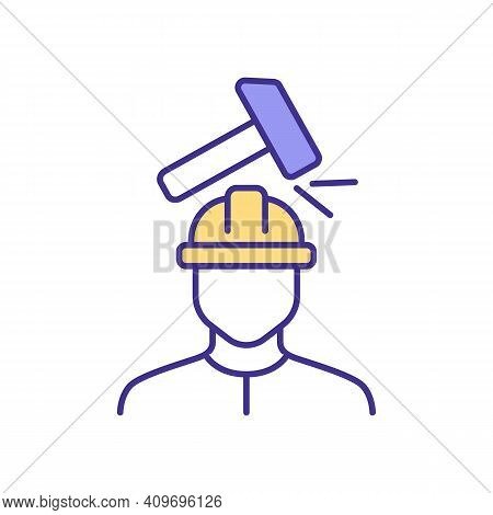 Work-related Injuries Rgb Color Icon. Physical Injuries. Employees Protection. Body Damage. Sufferin