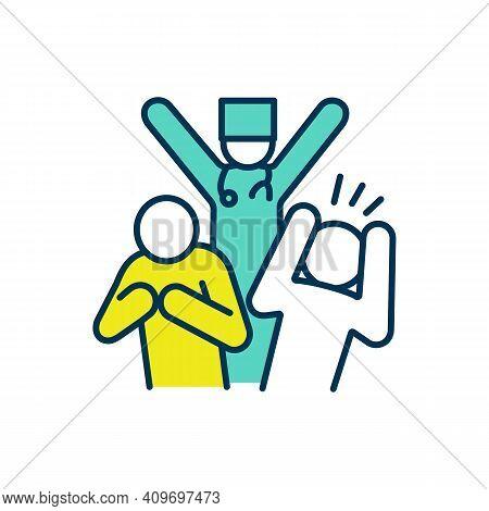 Quack Doctor Rgb Color Icon. Health Fraud. Impostor, Charlatan. Ignorant Medical Practices. Pretense