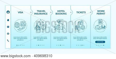 Business Trip Requirements Onboarding Vector Template. Travel Insurance. Service Adaptation. Hotel B