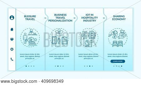 Business Travel Trends Onboarding Vector Template. Business Travel Personalization. Iot Hospitality