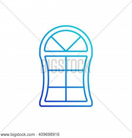 Custom Windows Gradient Linear Vector Icon. Fitting Design Into Window Opening. Unique Styles. Speci