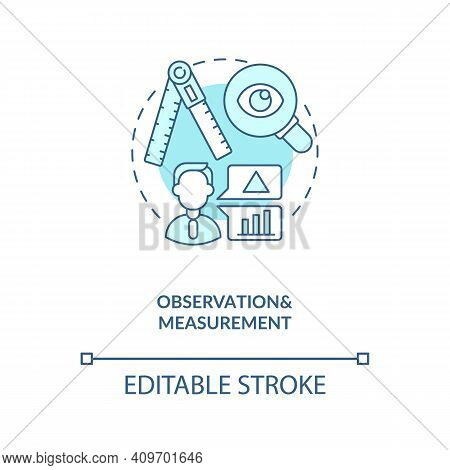 Observations And Measurements Concept Icon. Schema Encoding For Observations Idea Thin Line Illustra