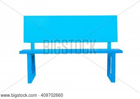 Close Up Bench Isolated On White Background