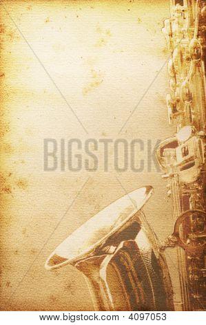 Old Saxophon Paper