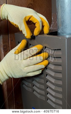 Hispanic Aircon Maintenance Man
