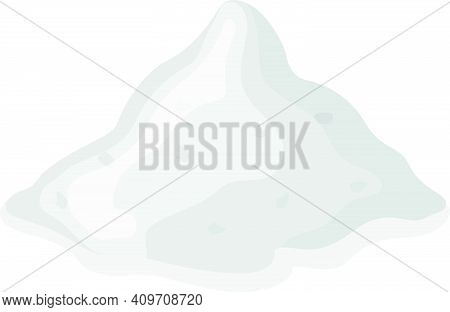 Snowy Powder Cocaine, Heroin Concept Addictive Narcotic Stuff, Drug Vector Illustration, Isolated On
