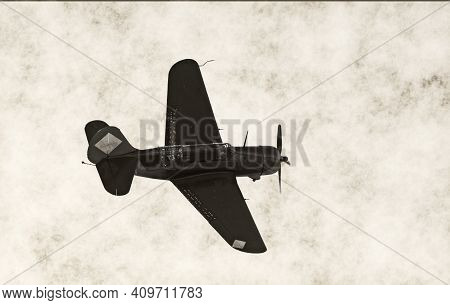 World War Ii Era Varroer Based Airplane In Flight
