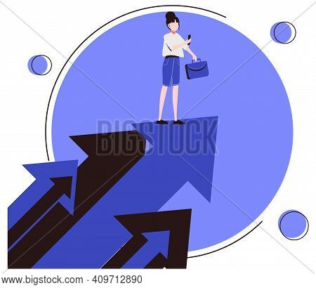 Opportunity As Vision For Chances And Seize The Target Tiny Persons Concept. Looking For Future Plan