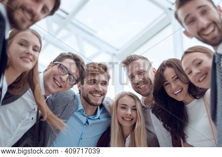 close up. group of smiling young people looking at the camera .