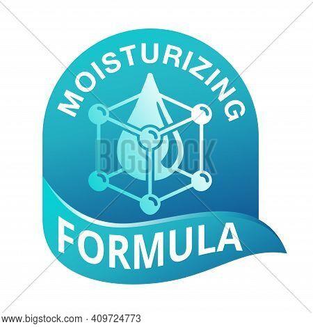 Skin Moisturizing Formula Catchy Emblem - Anti-age And Anti Wrickles Cosmetics Marking - Water Drop