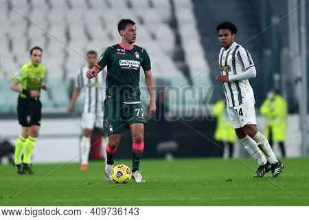 Torino, 22th February 2021. Milos Vulic Of Fc Crotone  During The Serie A Match Between Juventus Fc
