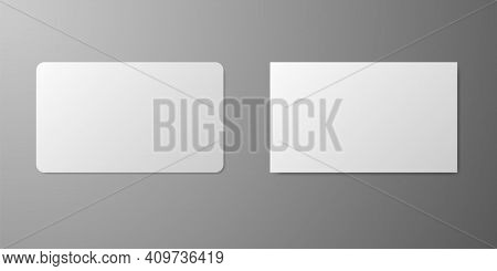 Business Card Realistic Mockup. Blank Realistic Card Template. Realistic Business Credit Mockup. Sto