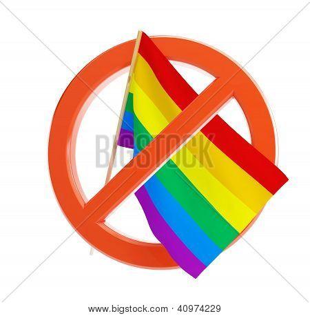 No Gay And Lesbian Flag