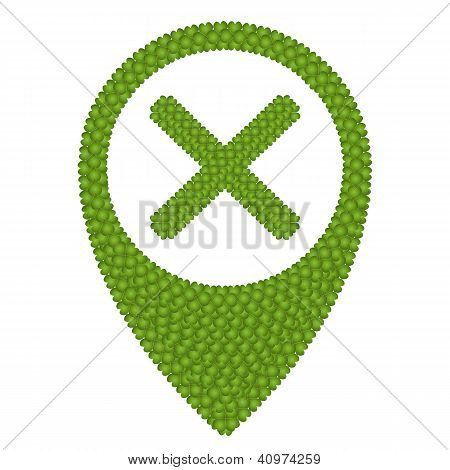 Four Leaf Clover Of No Sign And Navication Icon