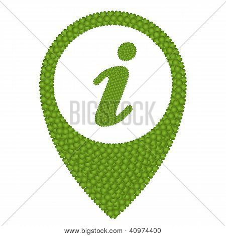 Four Leaf Clover Of Infomation Sign In Navication Icon
