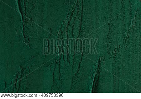 Background From Spirulina Powder. Pattern. View From Above
